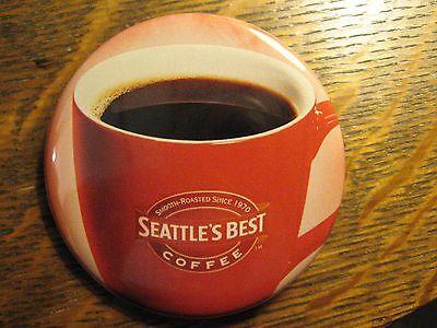 Seattle's Best Coffee Shop Java Cup Logo Advertisement Pocket Lipstick Mirror