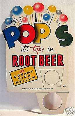 My Pops Root Beer Soda Pop Bottle Topper Old Sign Phila