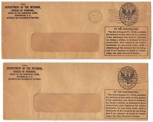 Ee. Uu. 1916 Cuatro Oficial Dept Of The Interior 3 Washington 1 Milwaukee
