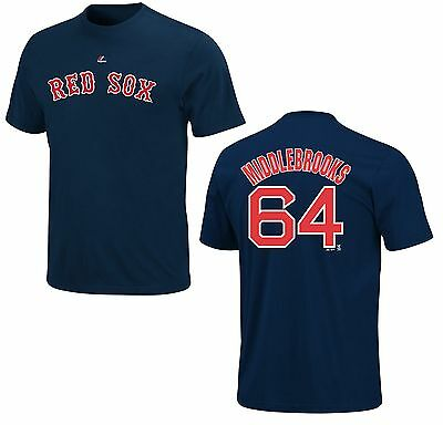 Fanartikel Verantwortlich Mlb Baseball Name&number T-shirt Boston Red Sox Will Middlebrooks #64 Navy Verbraucher Zuerst