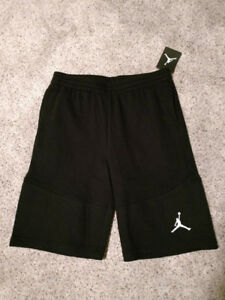 4f242e26af3d  45 Youth Nike Air Jordan Jumpman Black Knit Fleece Casual Shorts ...