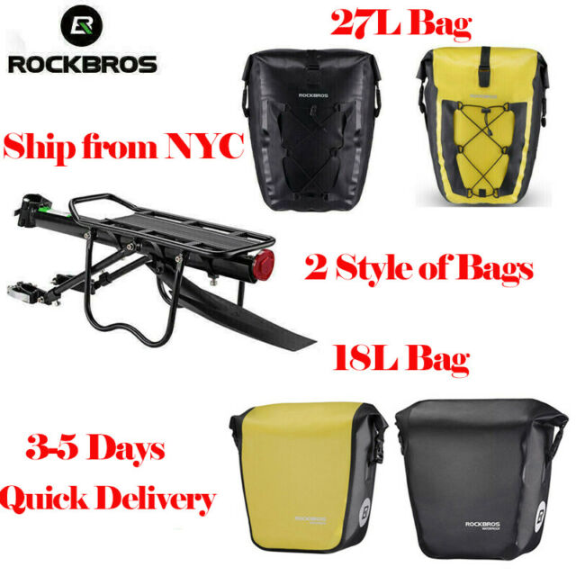 ROCKBROS Cycling Waterproof Bag Bike Travel Rear Rack Seat Carrier Panniers 27 L