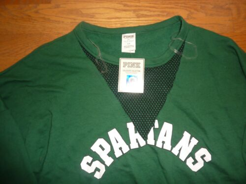 Vneck Nwt Meshed State Sweatshirt Rare Secret Pink Michigan Victorias spartans vwgAUqg