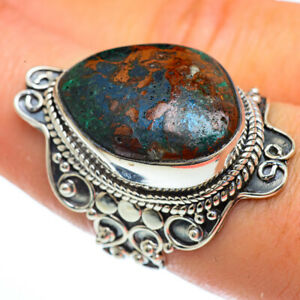 Large Chrysocolla 925 Sterling Silver Ring Size 8 Ana Co Jewelry R44183F