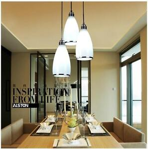 Image Is Loading Modern White Gl Ceiling Light Dining Room Pendant