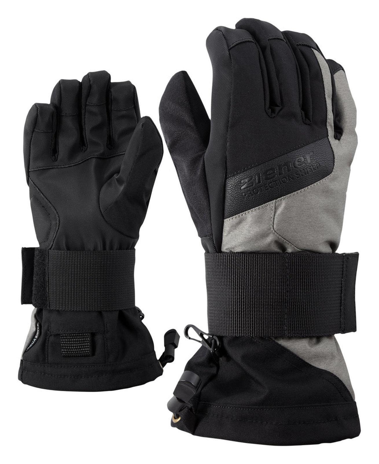 Ziener Kinder Snowboard Handschuh MIKKS AS® JUNIOR SB black grey 181720 122