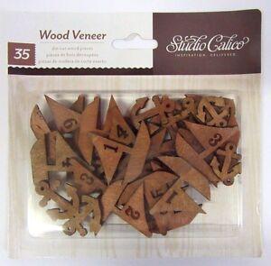 Studio Calico 35 Die Cut Wood Veneer Boats Anchors