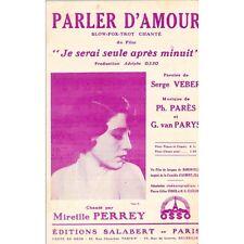 PARLER D'AMOUR Fox Trot chanté Mireille PERREY Paroles VEBER Musique PARES PARYS