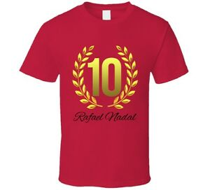 Rafael Nadal French Open Champion Number 10 Tennis Pro T Shirt