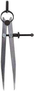 ZLKSKER 6 Inch Adjustable Lockable Steel Divider Wing Leather Compass