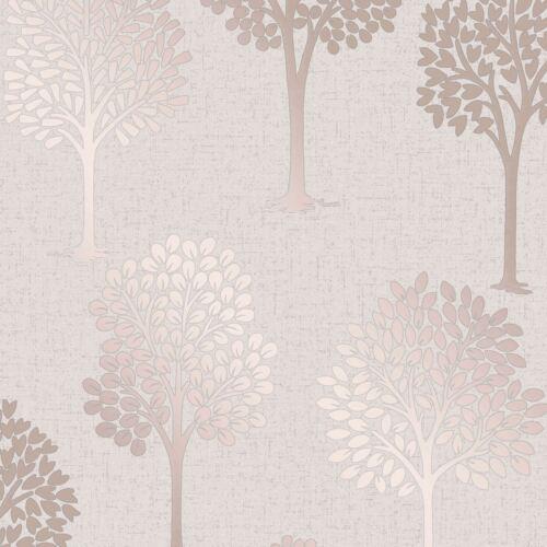 Fine Decor Fd42208 Glitzer Neu Quarz Baum Tapete Rotgold