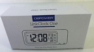 DBPOWERA-Linckclock-Clock-ONE-LCD-Display-ALARM-MONTH-DATE-TEMP-BRAND-NEW