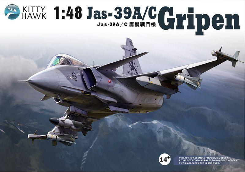 Kitty Kitty Kitty Hawk KH80117 1 48 Jas-39A C Gripen Aircraft a67147