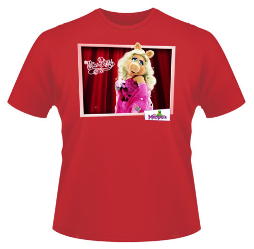 The Muppets Miss Piggy Funny T-Shirt Boys Girls Kids Age 3-15 Ideal Gift//Present
