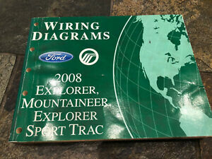 2008 Ford Explorer Sport Trac Wiring Diagrams Electrical Service Manual Ebay