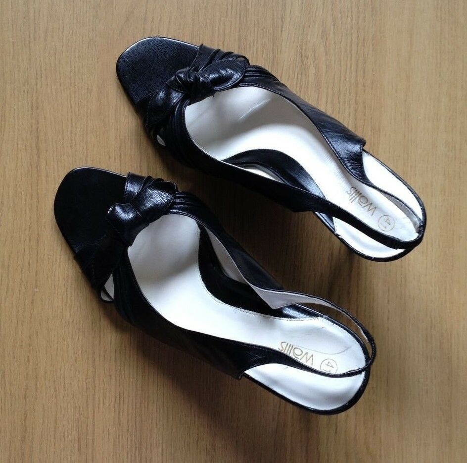 Women's black Wallis slingback open toe shoes