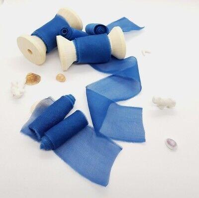 Wedding Decor and Styling 3 Yards Botanical Dyed Silk Fabric Ribbon