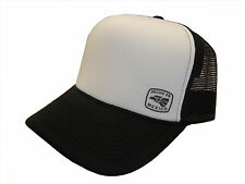 Hecho En Mexico Symbol Side Logo Black & White Mesh Trucker Cap Caps Hat Hats
