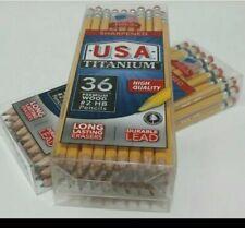 New 2 Pks 36 Premium Wood Number 2 Hb Pencils Sharpened Usa Titanium Lot Of 2