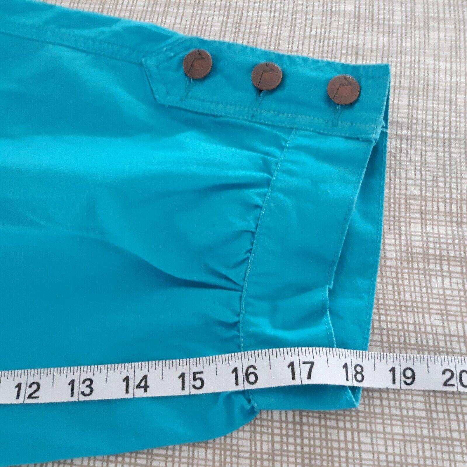 Venezia Turquoise Blue Cargo Capri Pants Women's … - image 8