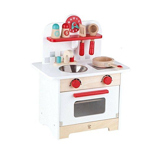 Hape Retro Gourmet Kitchen Kid S Wooden Pretend Play Set In Red With