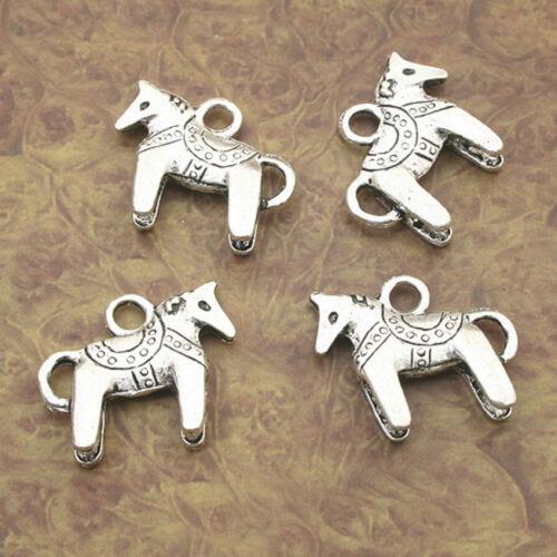 8pcs Tibetan Silver horse charm pendants X0116