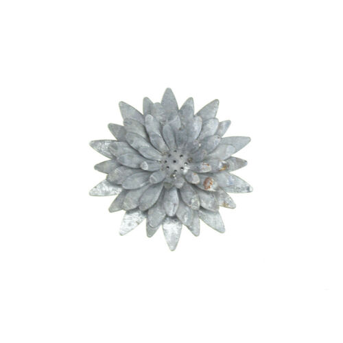 Metal Gray Galvanized Magnetic Sunflower 4-1//4-Inch