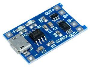 Micro-USB-TP4056-li-ion-li-po-lipo-Battery-Charger-Module-amp-Discharge-Protection