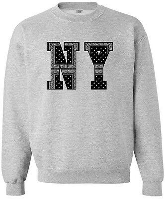 Kings Of NY New York Bandana 50/50 cotton/poly Long Sleeve Crewneck Sweatshirt