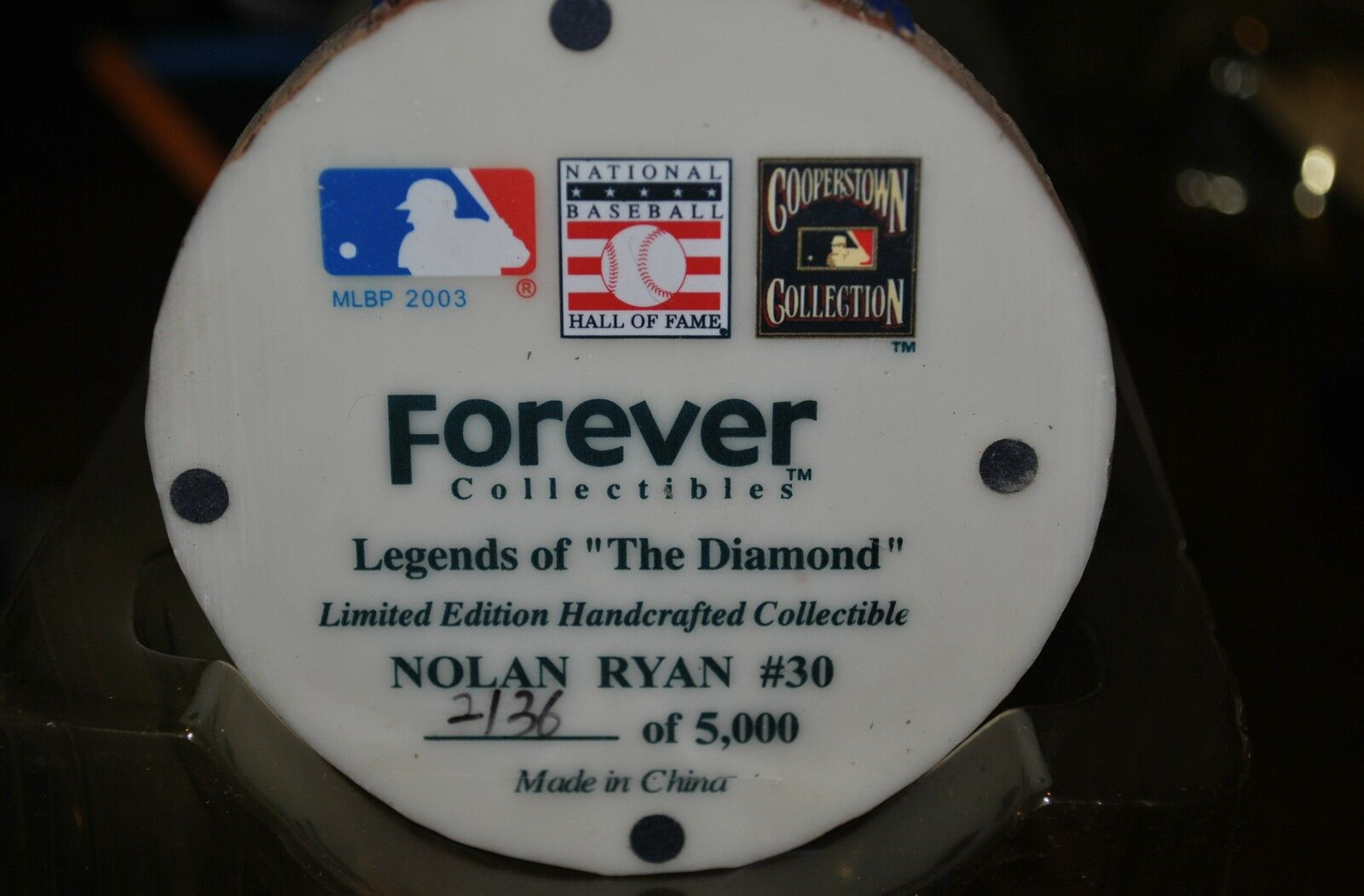 NOLAN RYAN METS METS RYAN   30 FOREVER LIMITED EDITION COLLECTIBLE COOPERSTOWN 2136 / 5000 be8d25