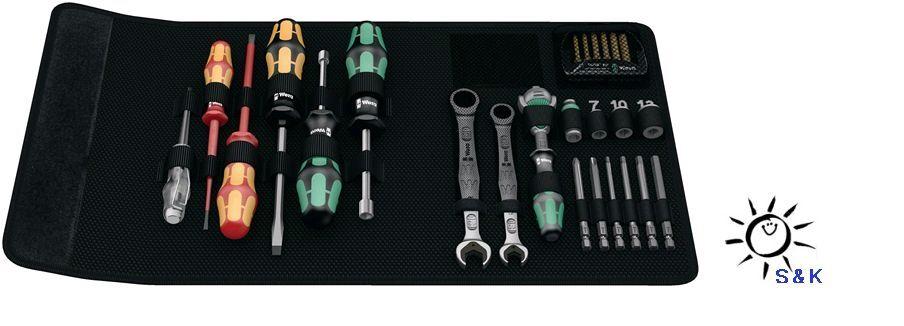 WERA Werkzeug-Set Sanitär/Heizung 25 tlg. KK SH 1 WERA Umschaltknarre VDE