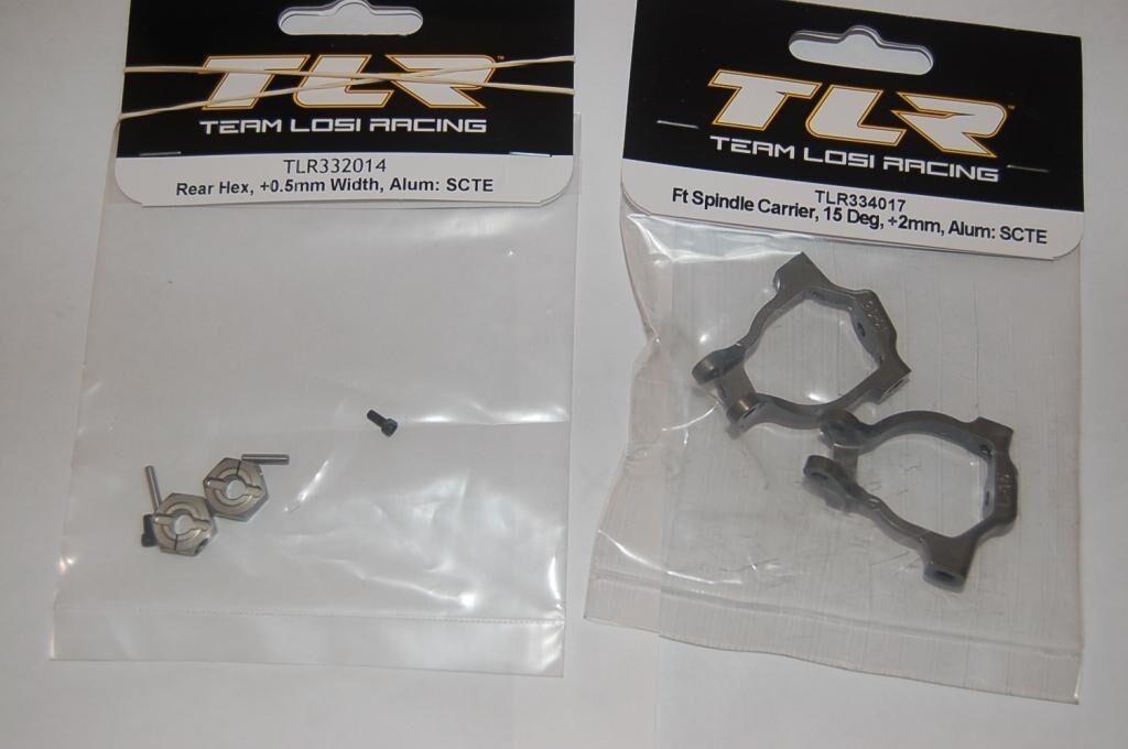 Team Losi Racing SCTE 2.0 hexagonal .5mm Delantero Eje portador trasero 15 grados +2mm
