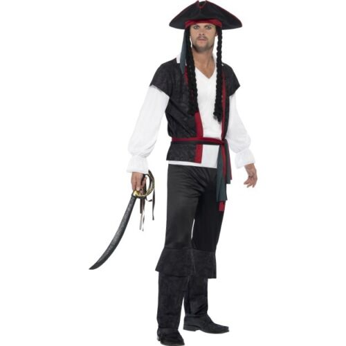 Pirates Of The Caribbean - Men's Aye Aye Pirate Captain Fancy Dress Costume Stag