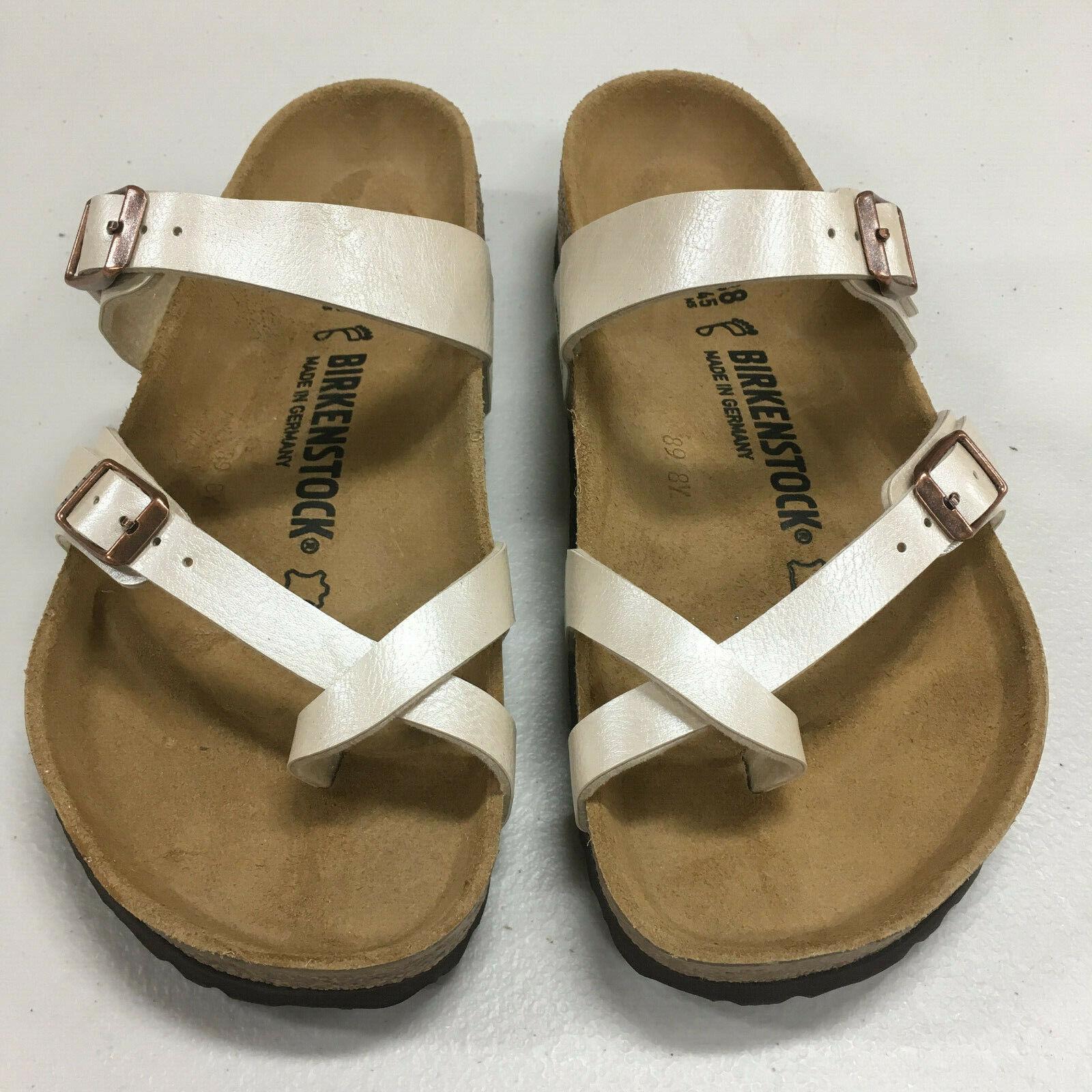 New in Box Original Birkenstock Mayari Graceful Pearl White Women Regular Sandal