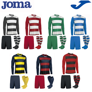 Joma Football Complet Team Kit Sport Garçons Enfants Top Shirts Europa Long-afficher Le Titre D'origine