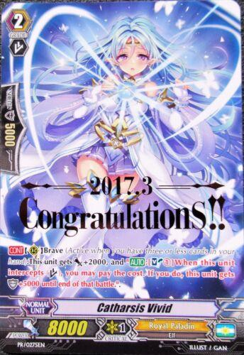 "5 MINT CARDS 5x Catharsis Vivid  /""CONGRATULATIONS/""  Cardfight Vanguard Promo"