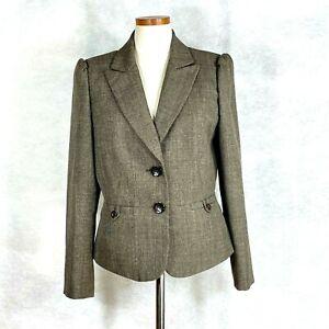 Tahari  Women's Tan Blazer Jacket Sz 8