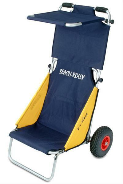 Eckla Beach Rolly klappbar mit Sonnendach blau   gelb