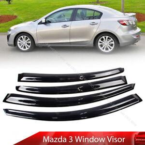 For-Mazda-3-2008-2013-4D-Window-Visor-Vent-Sun-Shade-Rain-Guard-4pcs