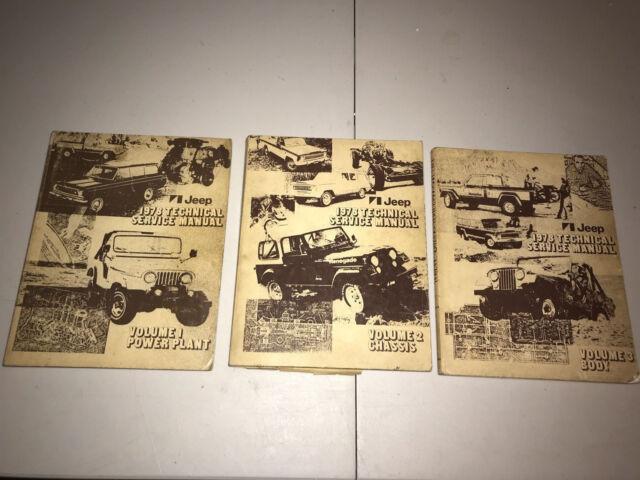 1978 Jeep Technical Service Manuals 3 Volume Set Cj5 Cj