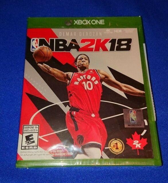 LOW PRICE NEW SEALED NBA 2K18 XBOX ONE XONE Demar Derozan 4K HDR With XBOX ONE X