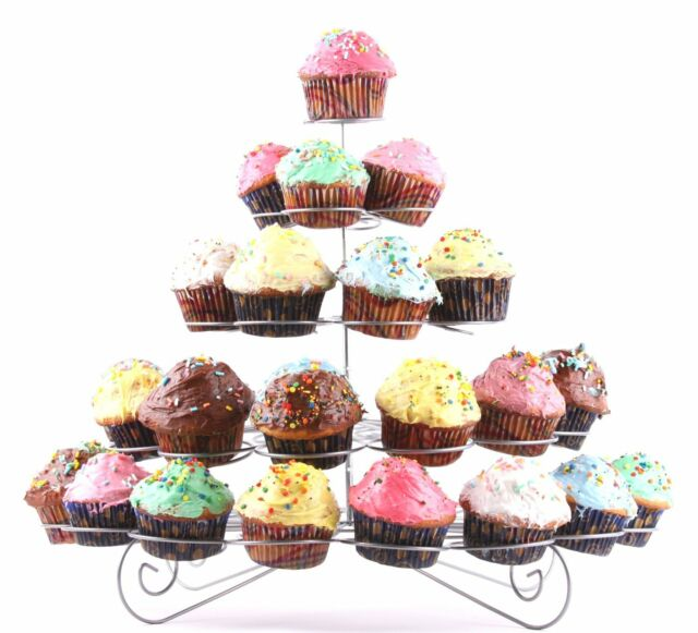 Charmed 41 Count 5 Tier Cupcake Stand Dessert sweets Holder tower (REFURBISHED)