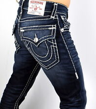 True Religion Mens Straight Flap Natural Super T Jeans Mnrs859esk 40 For Sale Online Ebay
