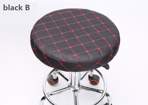 2Pcs 14 Bar Stool Cover Round Chair Seat Cover Cushions Sleeve Black&Red Dental