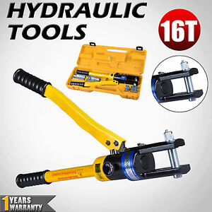 16-Ton-Hydraulic-Crimper-Tool-Quick-Cable-Plier-Crimping-Kit-16-To-300mm-11-Die