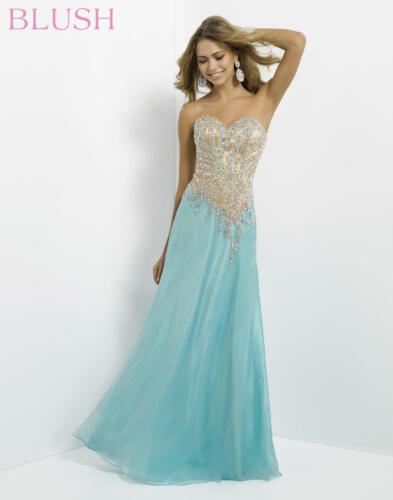 Prom Dress Blush by Alexia 9743 Color: Aqua/Nude S