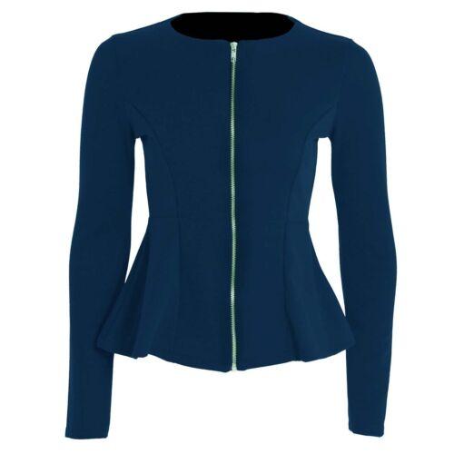 Womens Slim Outfit Zip Blazer Size UK 8-24