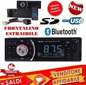 STEREO-AUTO-BLUETOOTH-AUTORADIO-VIVAVOCE-RADIO-FM-MP3-USB-AUX-SD-CARD-45WX4