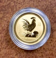 {BJSTAMPS} 2005 AUSTRALIA $15 1/10 OZ  GOLD Chinese LUNAR ROOSTER COIN