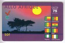 FRANCE TELECARTE / PHONECARD PREPAYEE .. 50F EAGLE TELECOM AFRIQUE DRAPEAU +N°
